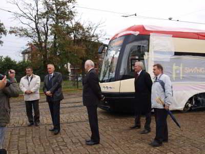 Konferencja prasowa na zajezdni tramwajowej Wrzeszcz i prezentacja tramwaju PESA 120NaG SWING dla Gdańska – 20 września 2010 r.