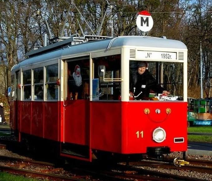 Św. Mikołaj w tramwaju
