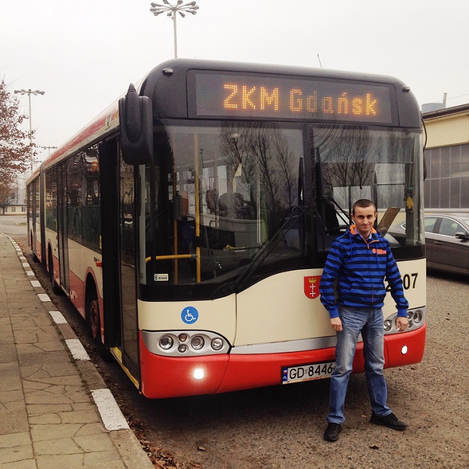 Nz. Kierowca ZKM Arkadiusz Guenther