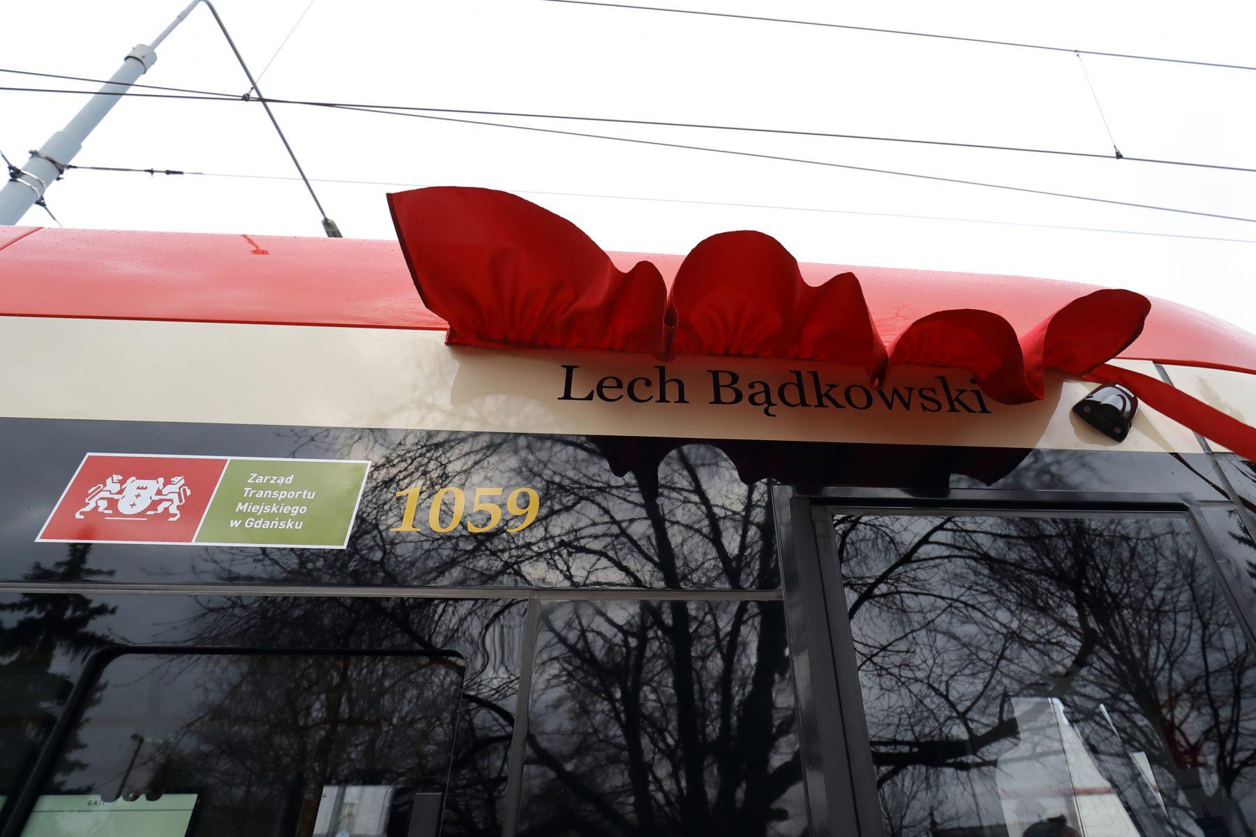 Nadanie tramwajowi imienia Lecha Bądkowskiego Grzegorz Mehring / www.gdansk.pl