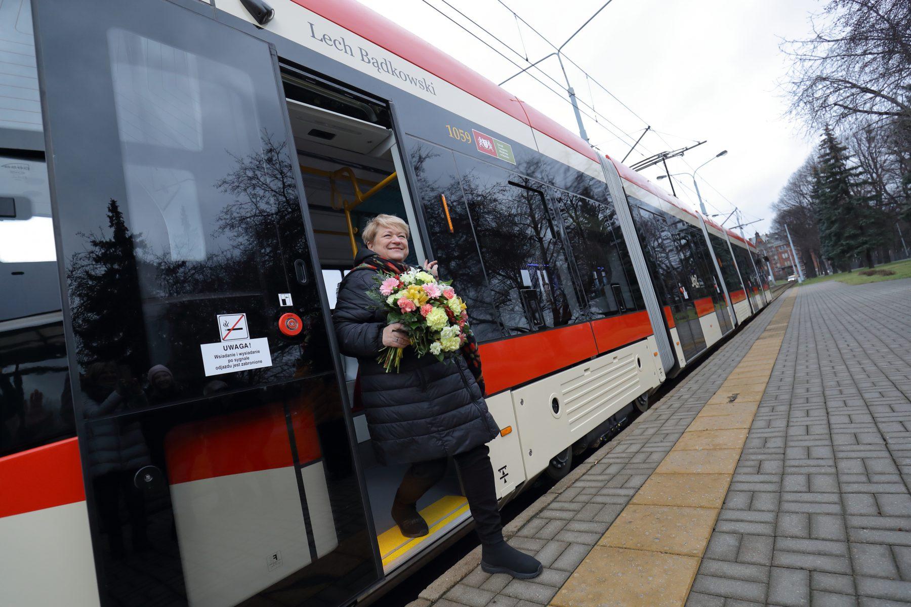 Nz. Sławina Kosmulska Nadanie tramwajowi imienia Lecha Bądkowskiego Grzegorz Mehring / www.gdansk.pl